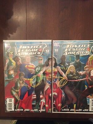 Justice League Of America #12 Wonder Woman Alex Ross Connecting Covers Dc Comics