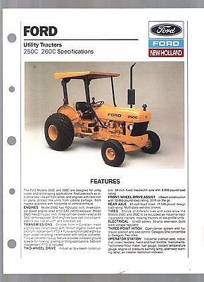 1989 Ford Tractor 250C 260C C Series Sales Brochure