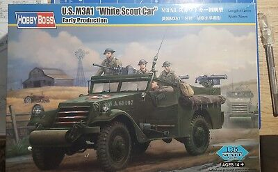 Hobby Boss - US M3A1 White Scout Car - 1:35