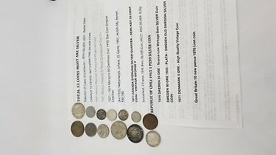 13 COINS:  Mixed Lot of Mostly Silver Coins, SEE PICTURES  933