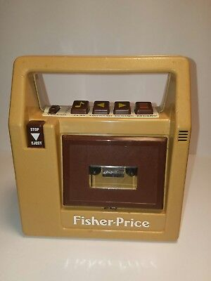 Vintage 1980 Fisher Price Cassette Tape Recorder Player Tested