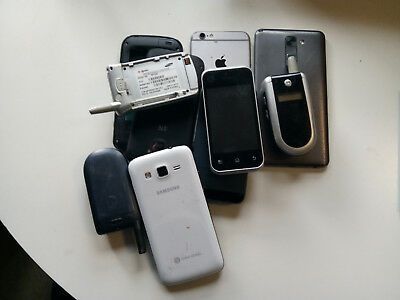 Lot of 10 and computer Cellphones For Scrap