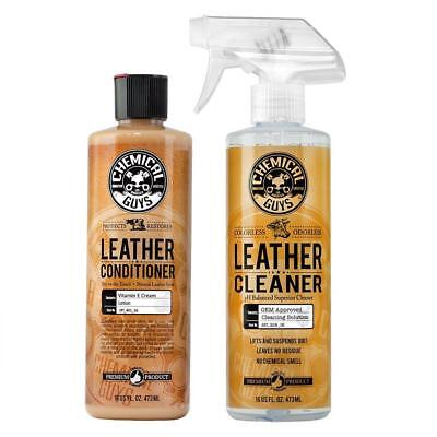 Chemical Guys Leather Cleaner and Conditioner Complete Leather Care Kit (16...