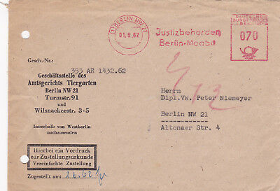 AFS Brief BERLIN 01.06.1962 Justizbehörde Moabit