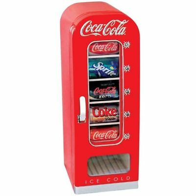 Soda Vending Machine Mini Fridge Retro Coca Cola Vintage Beverage Drink 10 Can