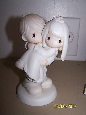 """Precious Moments """"BLESS YOU TWO"""" BRIDE AND GROOM"""