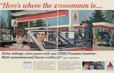 1966 Citgo: Ed McMahon, Heres Where the Zoom Is Vintage Print Ad