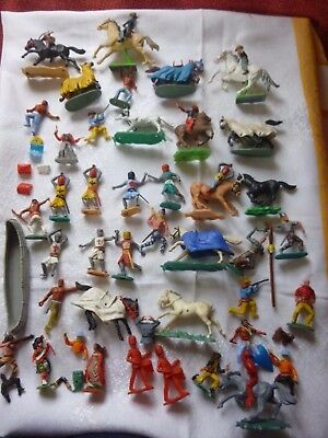 Vintage Timpo/Britains/Crescent Plastic Toy Soldiers/Cowboys Mixed Collection