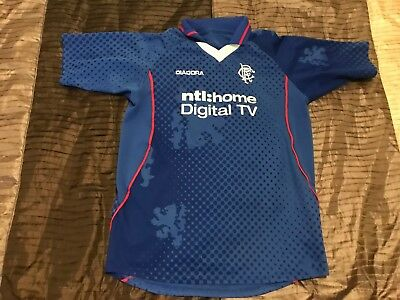 Glasgow Rangers Childrens Shirt 2002-2003 Season