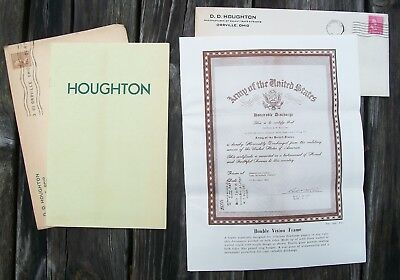 Vintage 1940's Houghton Display Cabinet Advertising Catalog Plus