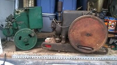 2 Antique Hit And Miss Engines. Novo & International Harvester  Farm Estate Sale