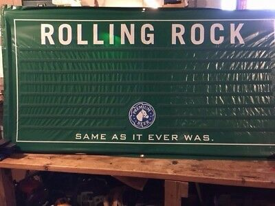 Rolling Rock changeable letter velcro sign