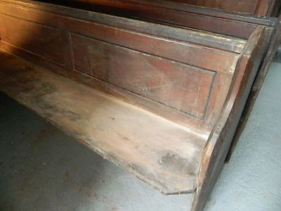 Six Enormous Early Victorian Pitch Pine Pews Fabulous For Bistro / Wine Bar Etc