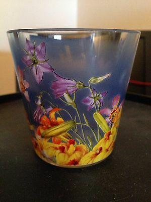 Goebel Smithsonian Wildflowers Collection Glass Votive Holder - Beautiful