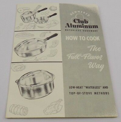 Vintage Club Aluminum How to Cook Brochure with Original Guarantee Card