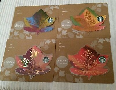 Starbucks Card Karte Blätter Leaf Set  USA NEU
