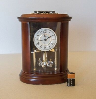 Cherry Wood Desk Or Mantle Clock westminster chime