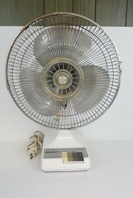 "Vintage WINDMERE Oscillating Fan 12"" Model NR-12 Works Perfectly"