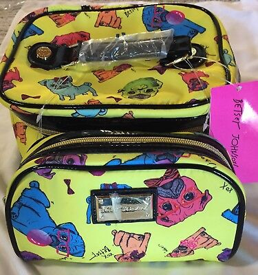 Betsey Johnson Multi-Color Cosmetic Bag