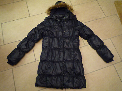 winterjacke parka m dchen dunkelblau eur 9 90. Black Bedroom Furniture Sets. Home Design Ideas