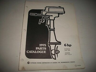 1975 Evinrude & Johnson 6 Hp Outboard Engine Illustrated  Parts Catalog