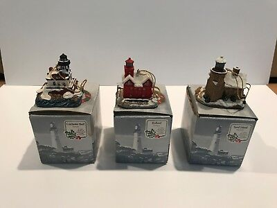 Harbour Lights Lighthouse Lot of 3 Holland-Sand Island-Colchester Reef