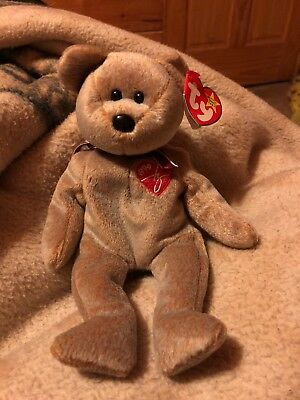 "Ty Retired ""1999 Signature Bear"" Beanie Baby Bear Collection Toy Kid Gift"