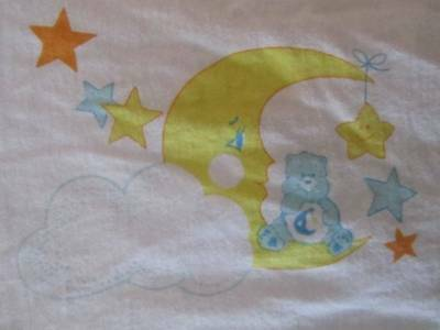 Care Bears Vintage CARE BEARS Bedtime Bear Cotton Baby Child Small Pillowcase