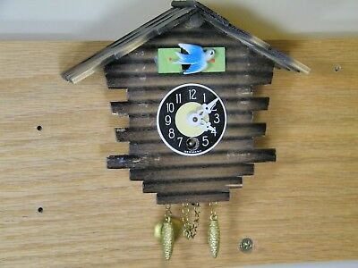 Authentic German Black Forest Novelty Clock Looks Like Log CABIN