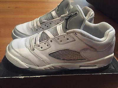 2015 Youth Nike Air Jordan V 5 Low White Grey Size 6.5Y Used NDS Rare Basketball