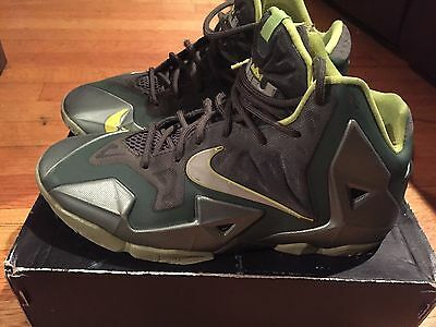 2013 Youth Nike LeBron XI 11 Dunkman Green Sea Spray Size 6.5Y Used Rare NDS