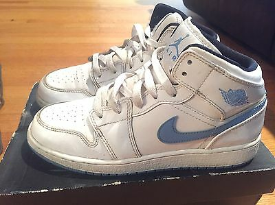 2014 Youth Nike Air Jordan I 1 One Legend Blue White Black Size 6Y Used NDS Rare