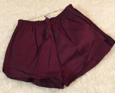 Dead Stock Vintage Russell Cotton Gym Shorts Size Medium Mens 1970's Maroon