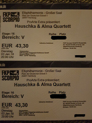 2 tickets hauschka alma quartett elbphilharmonie 02. Black Bedroom Furniture Sets. Home Design Ideas