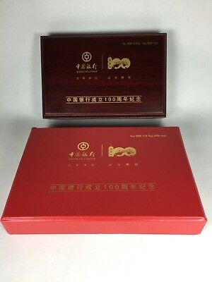 2012 Bank of China 1oz Silver/ 1/4oz Gold 100 Year Anniversary 2 Coin Proof Set