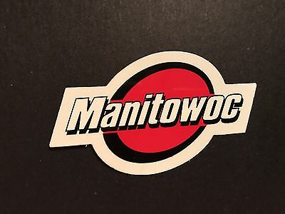 1 New Manitowoc Crane Hardhat sticker Union Iron Workers sticker