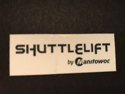 1 New Shuttlelift By Manitowoc Crane Hardhat sticker Union Iron Workers sticker