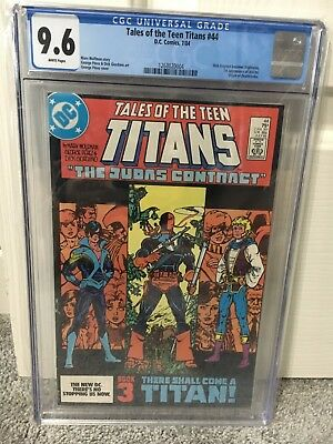 Tales of the Teen Titans #44 - DC - 1st Nightwing | Deathstroke origin | CGC 9.6