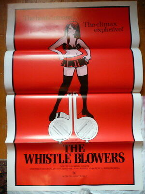 The Whistle Blowers Sexploitation 1 Sheet Movie Poster 1970's Unused