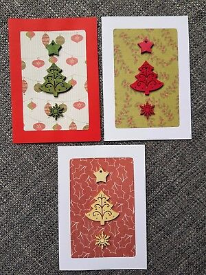 6 x Handmade Christmas Cards, 2 of each design