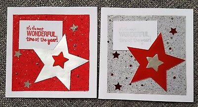 4 x Handmade Christmas Cards, 2 of each design