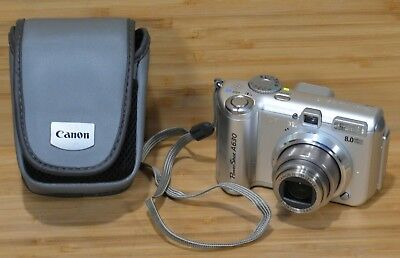 CANON POWERSHOT A630 Silver 8 MP Digital Camera and Case CAMERA ONLY