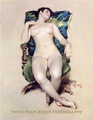 "Sleeping Nude Woman, 8.5x11"" Photo Print, William Chase Painting Lovely Fine Art"