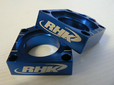 Yamaha YZ250F 2002 2003 Blue Axle Blocks Chain Tensioners Adjusters RHK-ABO2-B