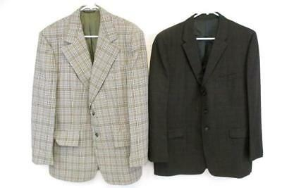 Lot of 2 Vintage Tweed Polyester Suit Blazers Brown's Oregon Tailor Made