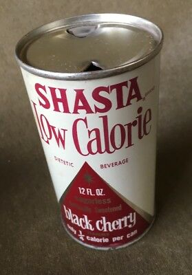 Vintage Shasta Flat Top Soda Can Diet Black Cherry Super Clean