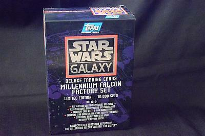 Topps Star Wars Galaxy Series 1 Millennium Falcon Factory set