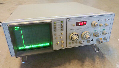 HP 8558B 1.5GHz Spectrum Analyzer with 853A Frame + calibration extension cable