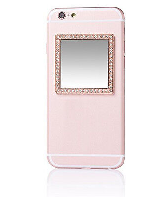 iDecoz Selfie Mirror - Rose Gold Square with Crystals - New in Packaging!