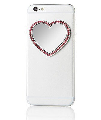 iDecoz Selfie Mirror - Pink Heart with Crystals - New in Packaging!